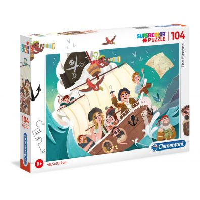 Puzzle Supercolor 104 The Pirates Clementoni