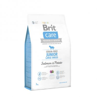 Brit Care Karma dla młodych psów ras dużych Junior Large Breed Salmon & Potato 3 kg