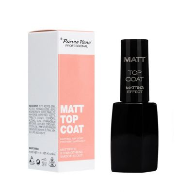 Pierre Rene Matt Top Coat matujący preparat do paznokci 11 ml