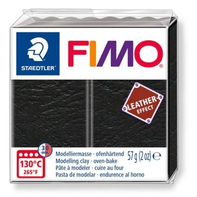 Masa Fimo Leather effect 57g czarny