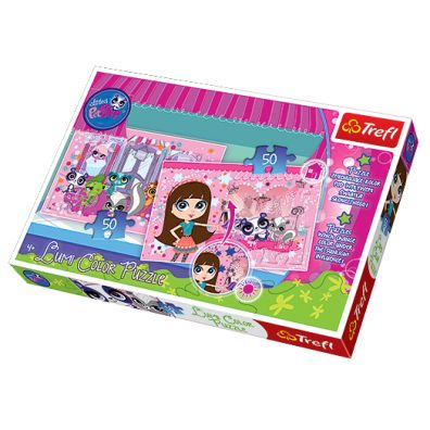 Puzzle 2x50 Lumi Color. Zwierzaki Pet Shop