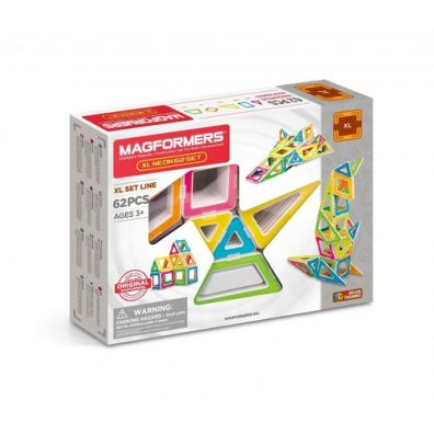 Magformers XL Neon 62 elementy