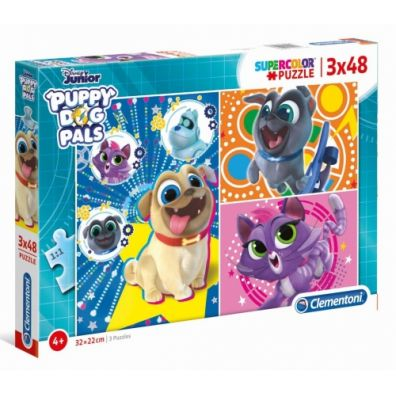 Puzzle 3x48 Super Kolor Puppy Dog Pals Clementoni