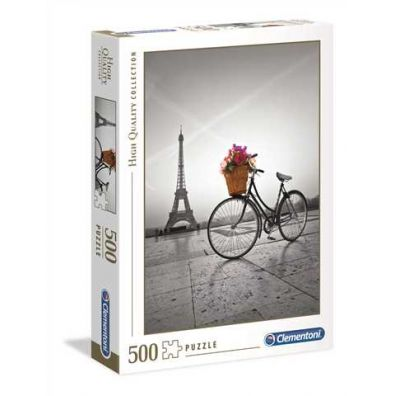 Puzzle 500 HQ Romantic Promenade in Paris Clementoni