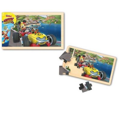 Puzzle Drewniana układanka Mickey and the Roadster Racers Playme