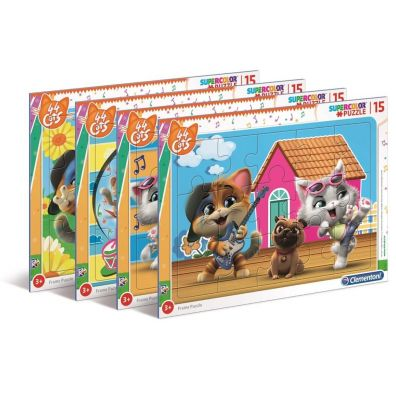Puzzle ramkowe 15 Super Kolor 44 Cats