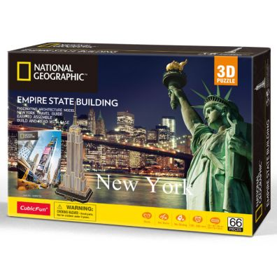 Puzzle 3D. National Geographic. Empire State Building Cubicfun
