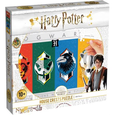 Puzzle 500 Harry Potter House Crest Herby Winning Moves