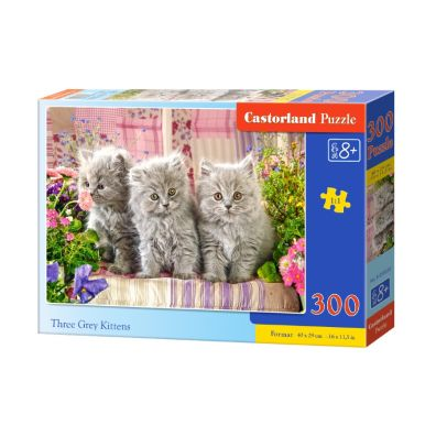Puzzle 300 Three Grey Kittens
