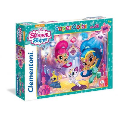 Puzzle 104 el. Maxi Superkolor Shimmer and shine