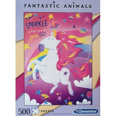 Puzzle 500 Fantastic animals Unicorn Clementoni
