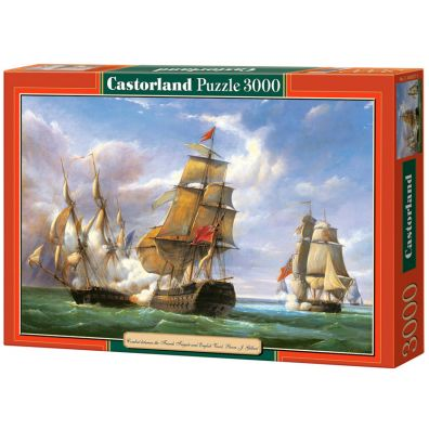 Puzzle 3000 Combat between the French AND the English Vessels