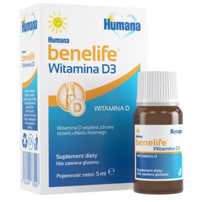 Humana Suplement diety Benelife Witamina D3 5 ml