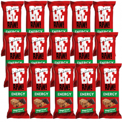 BeRAW Baton Gingerbread Chocolate Zestaw 15 x 40 g