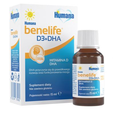 Humana Suplement diety Benelife D3+DHA 15 ml