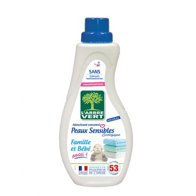 Larbre Vert Koncentrat do płukania Sensitive skin, Family AND baby too 800 ml Ecolabel