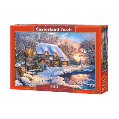 Puzzle 500 Winter Cottage CASTOR