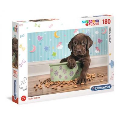Puzzle 180 Supercolor Lovely Puppy Clementoni