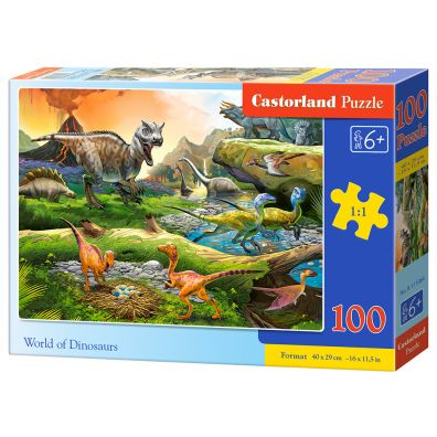 Puzzle 100 World of Dinosaurs CASTOR