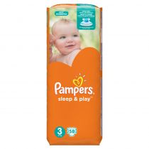 Pampers Pieluchy Midi 3 SLEEP&PLAY(4-9kg) 58 szt
