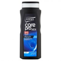 Luksja Żel pod prysznic 3w1 Care Pro Man Fresh 500 ml