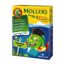 Moller`s Omega-3 Rybki suplement diety Owocowe 36 szt.