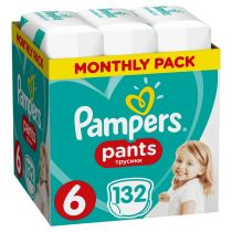 Pampers Pieluchomajtki Extra Large 6 (15+ kg) Monthly Box 132 szt.