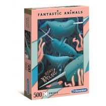 Puzzle 500 Fantastic Animals Narwhal Clementoni