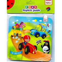 PUZZLE PIAN MAGNET 16EL POJAZDY PBH Roter Kafer