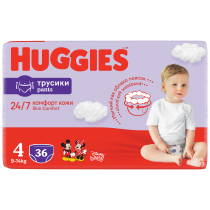 Huggies Pieluchomajtki Jumbo 4 Uni ND High PANTS (9-14 kg) 36 szt.