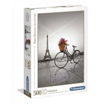 Puzzle 500el Romantic Promenade in Paris Clementoni