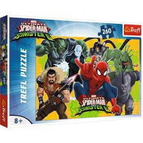 Puzzle 260 Spiderman w akcji. Spiderman Trefl