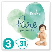 Pampers Pure Protection Pieluchy Midi 3 (6-10 kg) 31 szt.