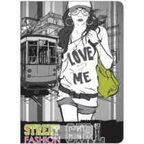Mat Teczka A4 Street Fashion Girl