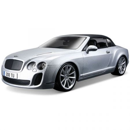 Bentley Continental srebrny 1:18 BBURAGO