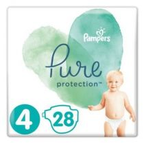 Pampers Pure Protection Pieluchy Maxi 4 (9-14 kg) 28 szt.