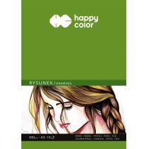 Blok do rysunku  Happy Color 300 g 15 k