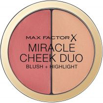 Max Factor Miracle Cheek Duo Blush & Highlight róż i rozświetlacz do twarzy Peach & Champagne 11 g