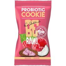 BeRAW Probiotic Cookie Malina & Kokos 20 g