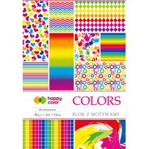Happy Color Blok A4 z motywami Colors